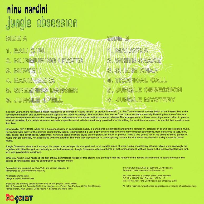 Nino Nardini- Jungle Obsession back