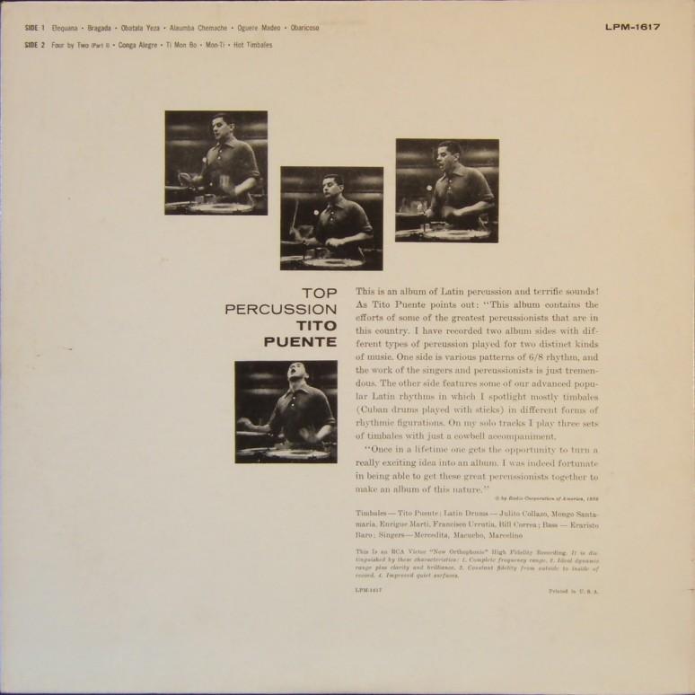 Tito Puente- Top percussion back